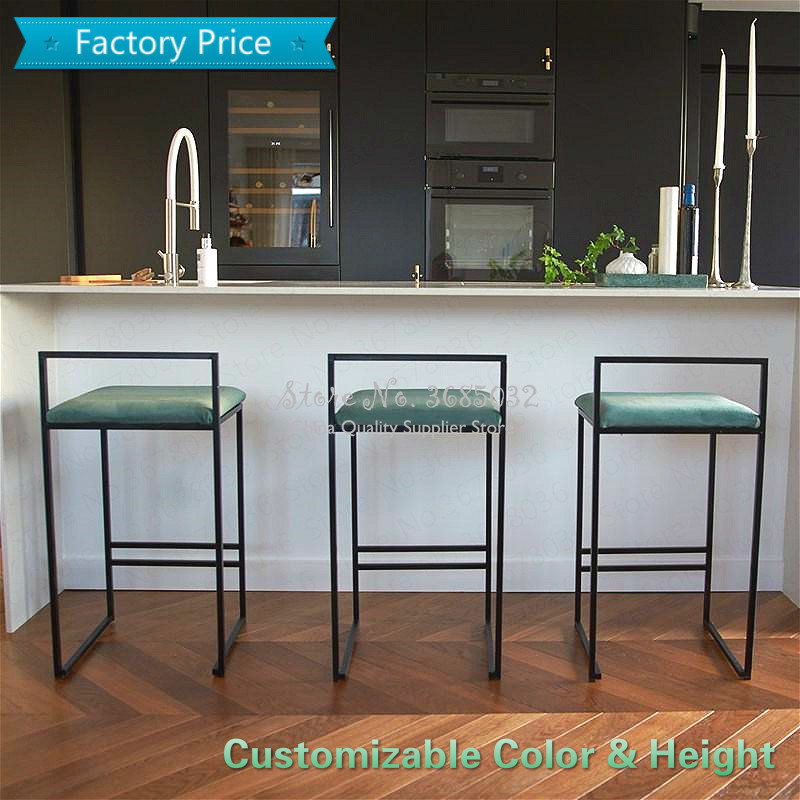 Customizableseat Height Bar Stools Fashion Modern Minimalist Bar High Bar Stool Home Personality Bar Chair Creative Design