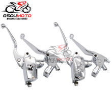 """Motorcycle 1"""" 25mm Hydraulic Brake Cable Clutch Lever Master Cylinder For Honda Steed VLX Shadow ACE VT 400 600 750 Magna VF 250"""