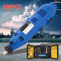 180W 220V Rechargeable Electric Drill Grinder Engraver Mini Sander Polisher With 180 Pcs Rotary DIY Power Polishing Tool Set