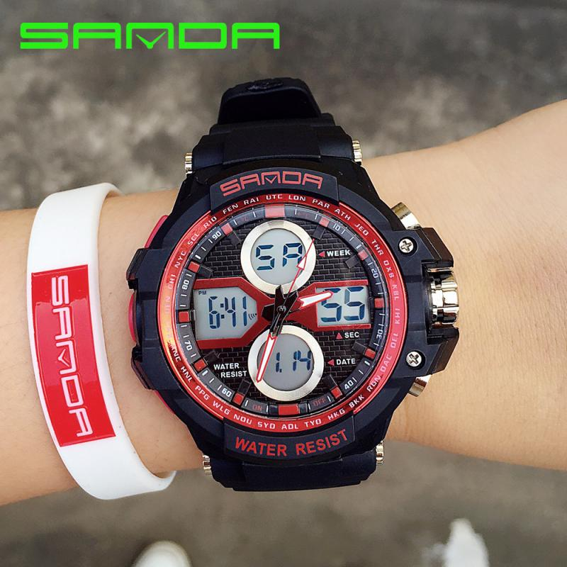 Montre Homme Watches Sport Digital Men Fashion Male Students Multifunction Sports Wrist Watch Luminous Military Clock Hour Time