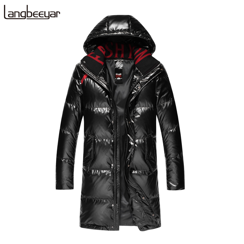 Top Grade 90% Duck Down 2019 Winter Fashions Long Down Jacket Mens Waterproof Streetwear Feather Coat Hooded Warm Men Clothing