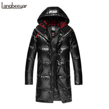Top Grade 90% Duck Down 2019 Winter Fashions Long Down Jacket Mens Waterproof Streetwear Feather Coat Hooded Warm Men Clothing(China)