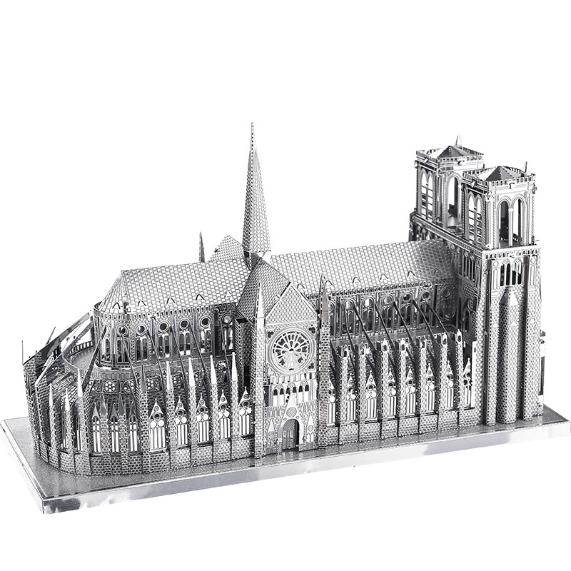 Piececool/Piececool All-Metal DIY Assembled Architecture Model 3D Glue-free Jigsaw Puzzle Notre Dame