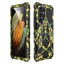 Metal Armor For Samsung Galaxy S21 Ultra 5G Case,Rosdster Phone Case 360 All Round Coverage Protection Cool Travelling Cover