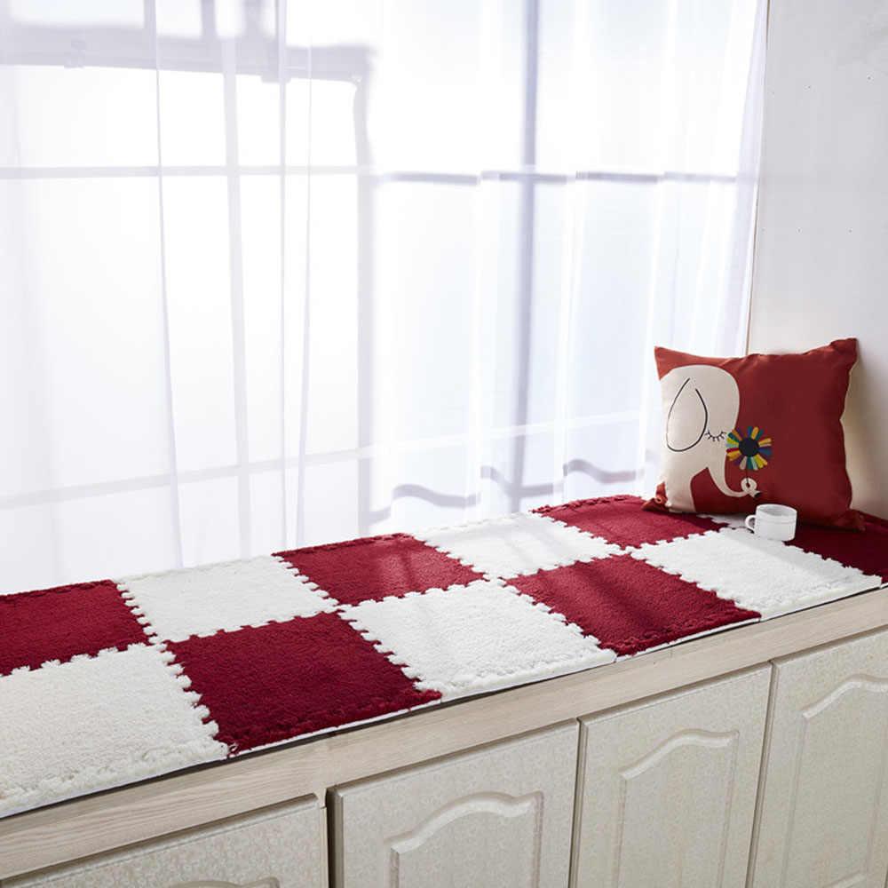 Enclavamiento ejercicio gatear azulejos dormitorio piso puzle alfombra sin pelusa EVA alfombrilla de felpa impermeable para el juego del bebé Mat decoración del hogar