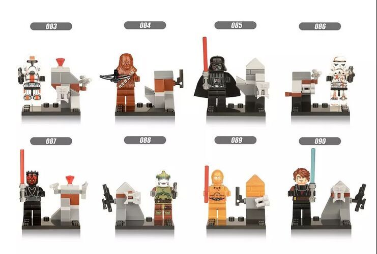 Single Sales Wars Plastics Darth Maul Storm Soldier Action Tropper C3PO Bricks Building Blocks Toys For Children XH 083-090