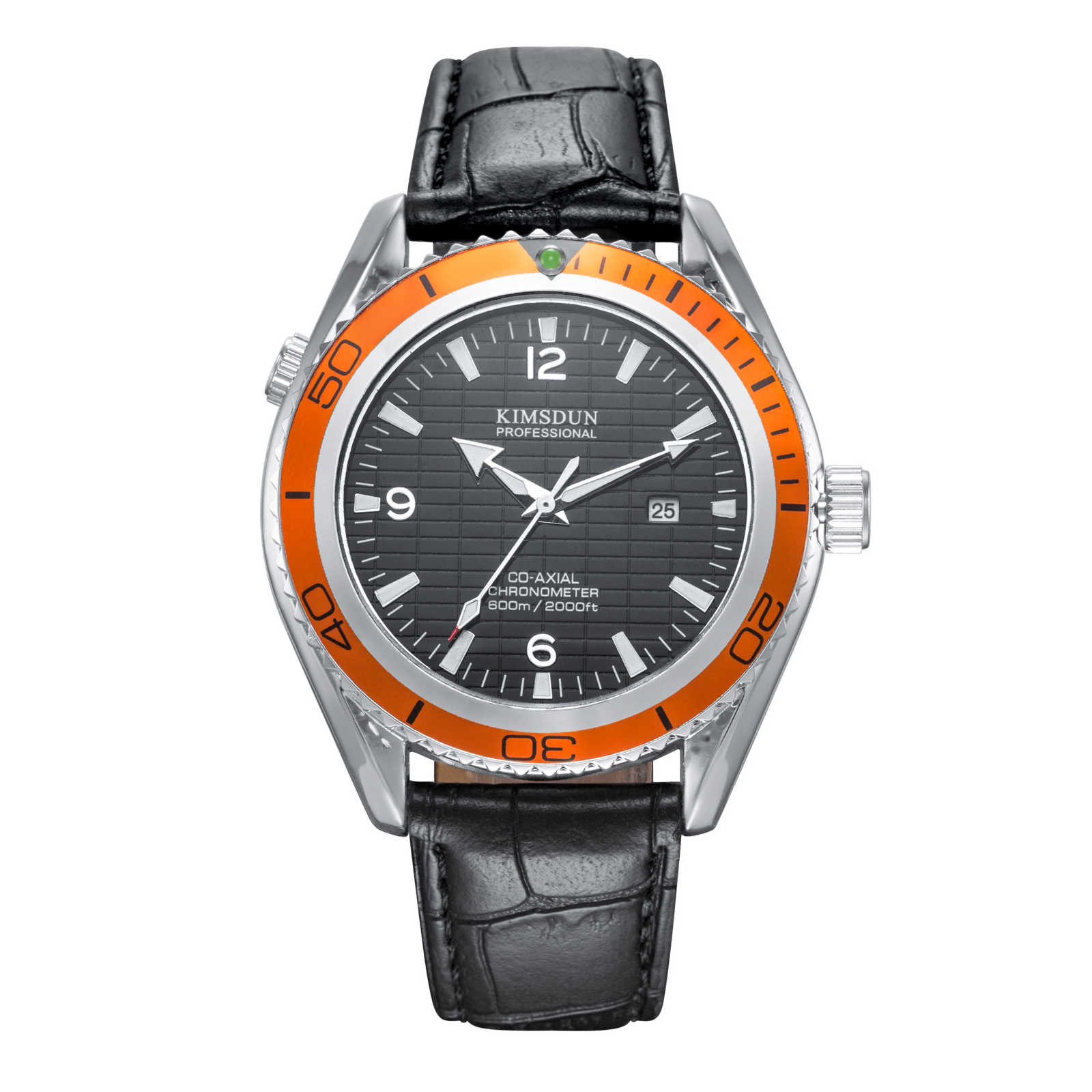 Switzerland watches men luxury brand professional sea diver watch classic dress male luminous waterproof quartz Orange bezel