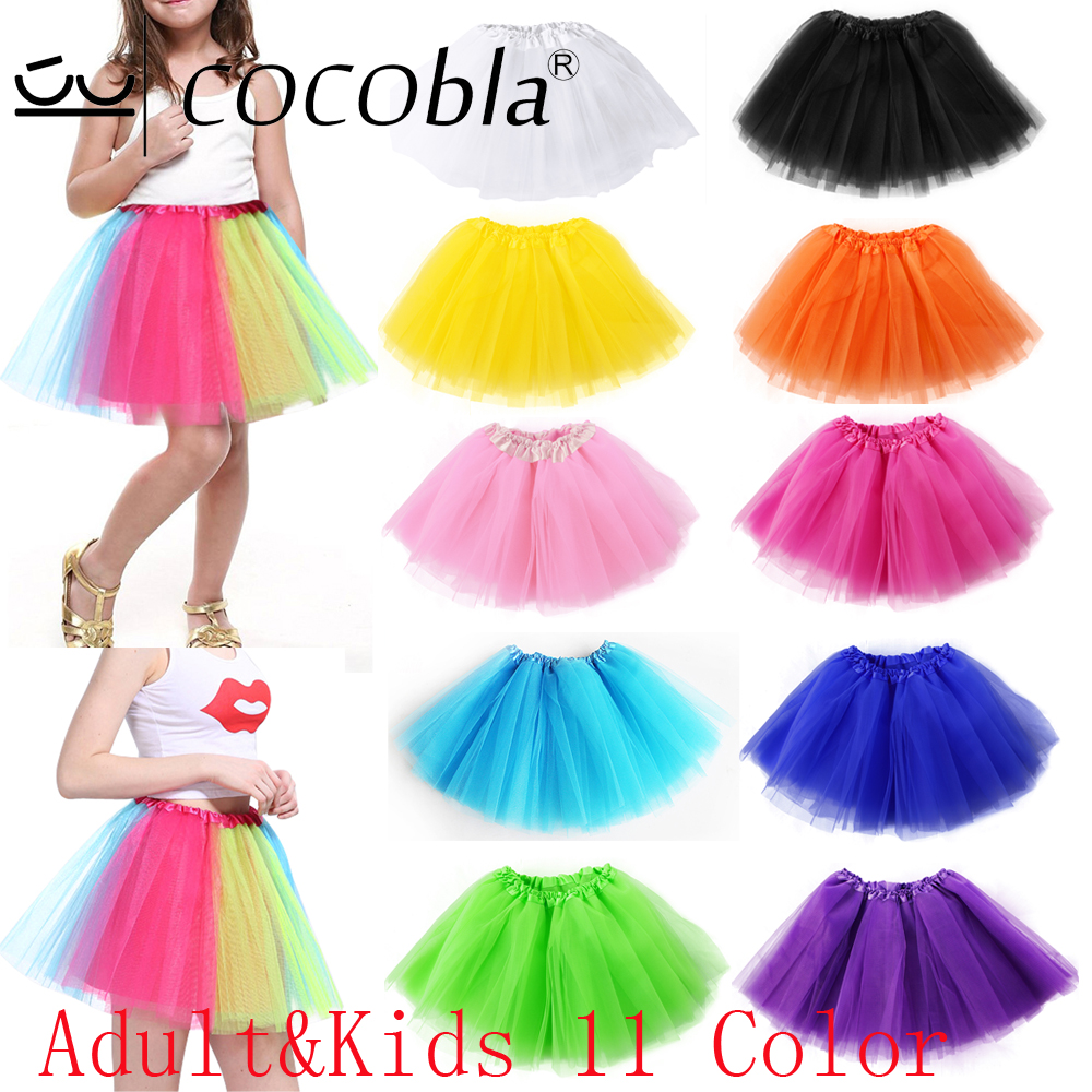 Women's Skirt Rainbow Tutu Women Elastic Ballet Dancewear Tutus Mini Tutu Skirt Fairy Yellow Tulle Skirt Mother Daughter