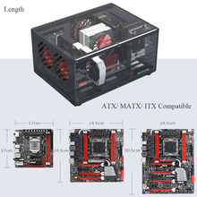 PC Cases Computer-Case ATX Transparent Acrylic Max Horizontal 12x10.5inch DIY Support
