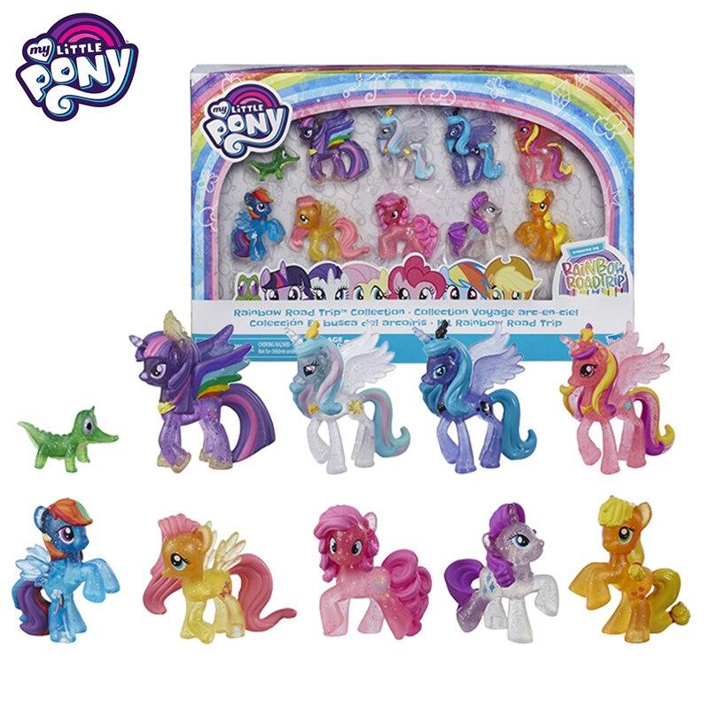 Mon petit poney amitié est magique cadeau ensemble rareté arc-en-ciel combinaison fille princesse poupée Action Figure jouets pour enfants E6608