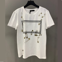 Unisex Fashion Summer Cotton T shirt women Casual Letter Print Tops woman Tshirts Have Logo Shorts Sleeve Tops Tee