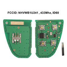 Jingyuqin obrotowy pilot Car Key tablica elektroniczna 433MHZ 4D60 Chip dla Jaguar x-type s-type 1999-2009 XJ XJR 2002-2008 4B