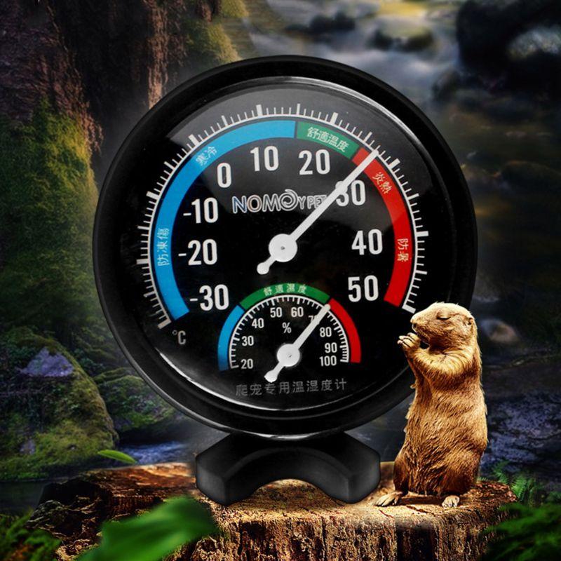 Reptile Temperature Thermometer Humidity Hygrometer Gauge Vivarium Tank Supplies Reptile Thermo-hygrometer