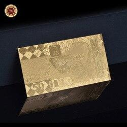 50 грн банкнот Металл Золотая фольга Украина бумажные деньги украинская копия банкнот бизнес-подарки, акции
