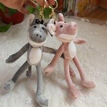 2019 Stuffed Animal Piggy Pig Keychains Big Teeth The pig Kids Toys Keyrings Women Car Handbag Pendant Key Chain Ring Holder