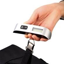 50 kg 110 lb lcd escala digital portátil eletronic viagem bagagem escala handhold mini pesando ferramenta de medição de peso escala
