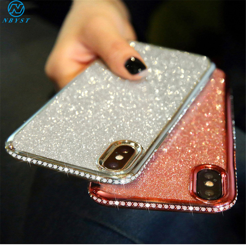 Bling Glitter Diamond Case for Samsung Galaxy A60 A40 A20 A70 A50 A30 A10 S S8 S9 S10 Plus S10e J4 J6 A8 A6 2018 Soft TPU A10S image