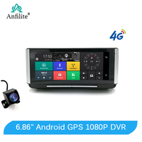 Anfilite 7 Inch 4G Car DVR Camera FHD 1080P Android Dash Cam GPS Navigation ADAS Car Video Recorder Dual Lens Dashboard camera