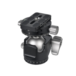 D-40 Professional Double Panoramic Head CNC Machining Ball Head Double U Notch for Tripod Monopod DSLR ILDC Cameras