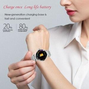Image 4 - ساعة ذكية نسائية فاخرة H2 ، ساعة ذكية عصرية مقاومة للماء مع التحكم في معدل ضربات القلب واللياقة البدنية لهاتف Android IOS PK B80 H1 H8