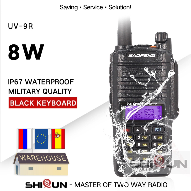 Baofeng UV-9R Plus IP67 Waterproof Dual Band 136-174/400-520MHz Ham Radio 10KM Baofeng 8W Walkie Talkie 10 KM UV 9R UV-82 UV-XR