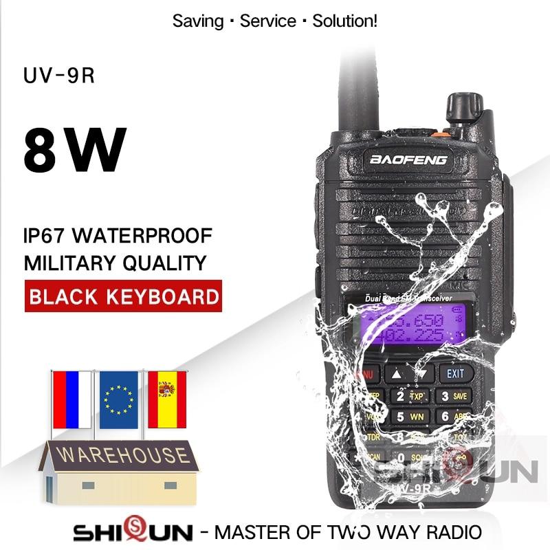 Baofeng UV-9R Plus IP67 Waterproof Dual Band 136-174/400-520MHz Ham Radio 10KM Baofeng 8W Walkie Talkie 10 KM UV 9R UV-82 UV-XR