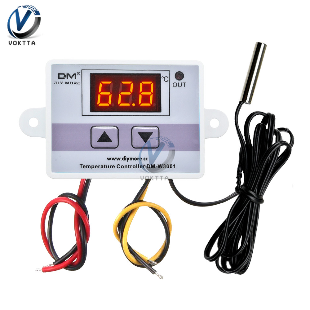 XH-W3001 W3001 Temperature Controller Digital LED AC 110V 220V Thermometer Thermo Controller Switch Probe Max 10A NTC10K