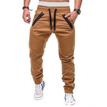 Spodnie dresowe męskie spodnie joggersy hip hopowe męskie spodnie bojówki męskie spodnie casualowe w stylu streetwear modne spodnie wojskowe męskie tanie i dobre opinie TJWLKJ Cargo pants CN (pochodzenie) Mieszkanie COTTON Fałszywe zamki REGULAR Pełnej długości F19091001 Na co dzień