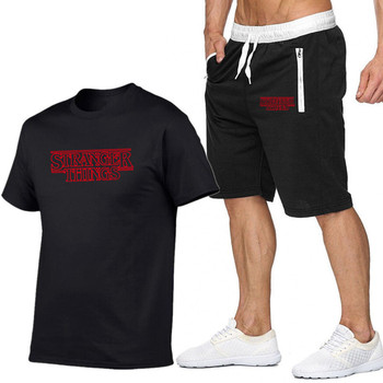 Summer Short Sets Men Casual Suits Sportswear Tracksuit cotton t-shirt+shorts high quality Casual Hip hop print brand clothing