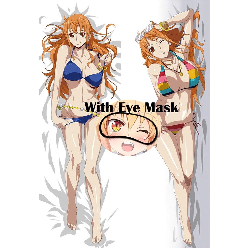 Otaku ONE PIECE Nami подушка для сексуальной Девушки Чехол аниме дакимакура вайфу украшение для тела для дома длинная наволочка подушка маска для гл...