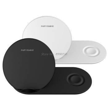 2in1 QI Wireless Charger Stand for iPhone X XR XS MAX 8 for Samsung S9 S8 S7 Note 9 8 Galaxy Watch Gear S3 S2 For Huawei Mate RS