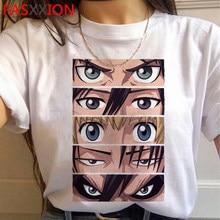 Ataque em titan shingeki nenhum kyojin levi ackerman masculino roupas de casal estético casual ulzzang t camisa tshirt tumblr ulzzang
