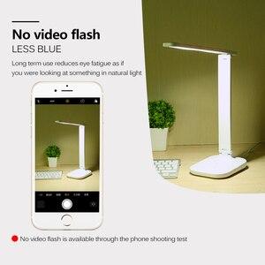 Image 4 - Светодиодный настольный светильник, складной сенсорный диммер, настольные лампы, USB зарядка, защита глаз, светильник для чтения с многофункциональной базой