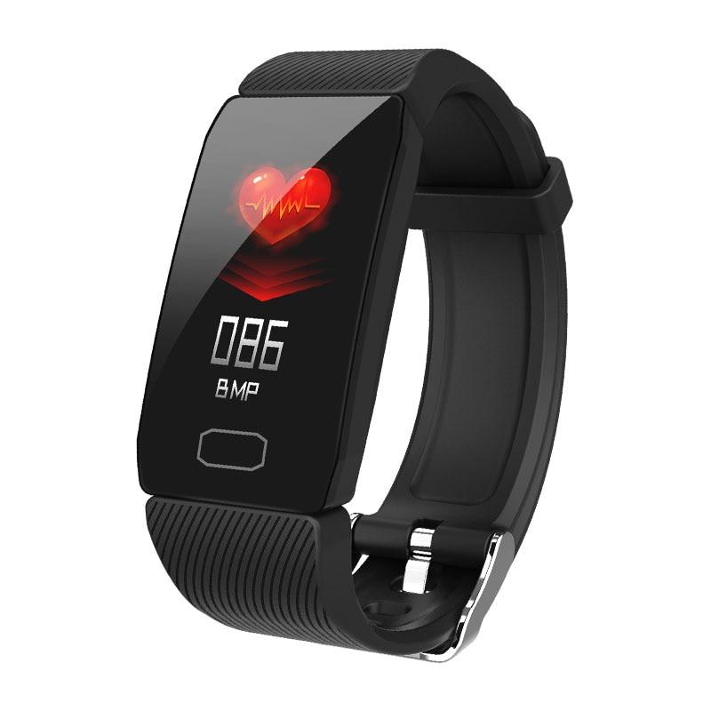 Hed5ed381f1184d34b8e92768d42948d63 Fitness Bracelet Blood Pressure 1.14'' Screen Fitness Tracker Smart Watch Waterproof Smart Wristband Weather Display Women Men