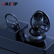Caletop bezprzewodowe słuchawki sportowe Bluetooth działające słuchawki HiFi słuchawki tws 8D dźwięk automatyczne parowanie inteligentna redukcja szumów
