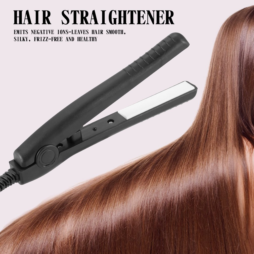 Portable Hair Perming Hair Styling Appliance Hair Crimper Mini Electric Splint Flat Iron Ceramic Hair Curler & Straightener