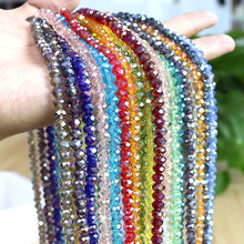 2/3/4mm miyuki redonda grânulo de cristal rondelle ab frouxo facetado grânulos acessórios de costura para jóias que fazem suprimentos
