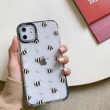 INS Couronne Abeille Pour iphone 11 Pro Max 6 s X XR XS Max Soft Silicone Couverture Arrière Transparente Pour iPhone 7 8 plus Coque