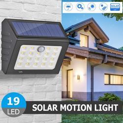 14/15/19LED Zonne-energie Aangedreven Wandlamp Waterdichte Human Motion Inductie Outdoor Beveiliging Garden Street Lampen