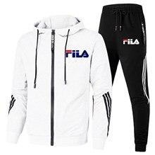 Ropa deportiva con capucha para hombre, chándal informal para trotar, trajes deportivos para trotar, sudadera + pantalón, conjun