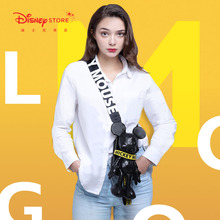 Authentic Disney Mickey Cool Standard Messenger Bag Shoulder Bag Doll Mobile Phone Bag One Pack Three Uses 2021 New