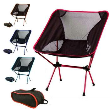 Portable Lightweight Foldable Camping Chair Outdoor Hiking Recliner with Backrest Casual Fishing Folding Chairs Breathable Net lounge beach chair fishing backrest lightweight folding chair outdoor portable camping deck chairs for hiking