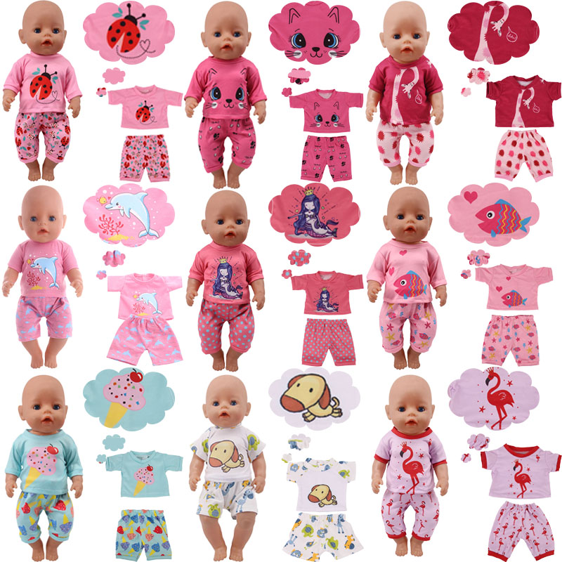 Cute Animal Pattern!Kitty,Mermaid,Christmas Gift Fit 18 Inch American&43 CM Reborn Baby Doll Clothes,Girl's Toys,Our Generation