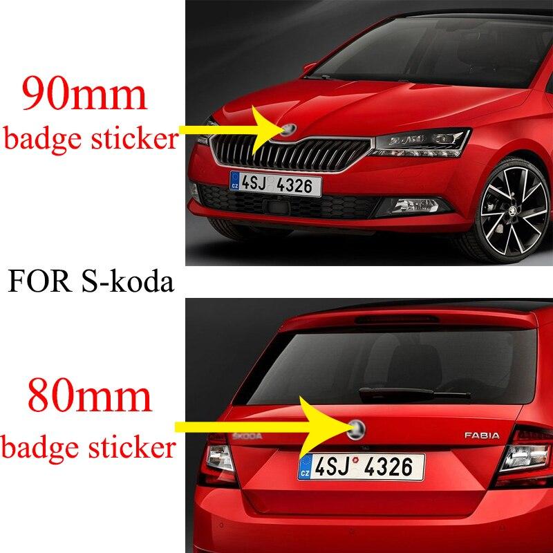 Badges autocollants chat, 2 pièces, noir argent vert 90mm 80mm 79mm, emblème de capot avant de voiture, coffre arrière