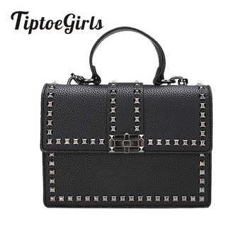 2019 Brand Women Bags Luxury Handbags Women Messenger Bags Cover Rivet Bag Girls Fashion Shoulder Bag Ladies PU Leather Handbags - DISCOUNT ITEM  69% OFF All Category