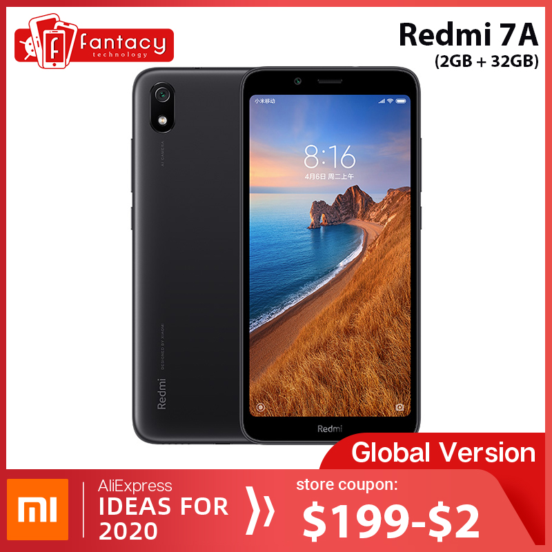"In Stock Global Version Xiaomi Redmi 7A 7 A 2GB 32GB 5.45"" Snapdargon 439 Octa core Mobile Phone 12MP Camera 4000mAh Smartphone"