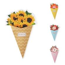 Bouquet Wishes-Card Paper Flower Envelope-Mother's Birthday/Valentine's-day/goddess