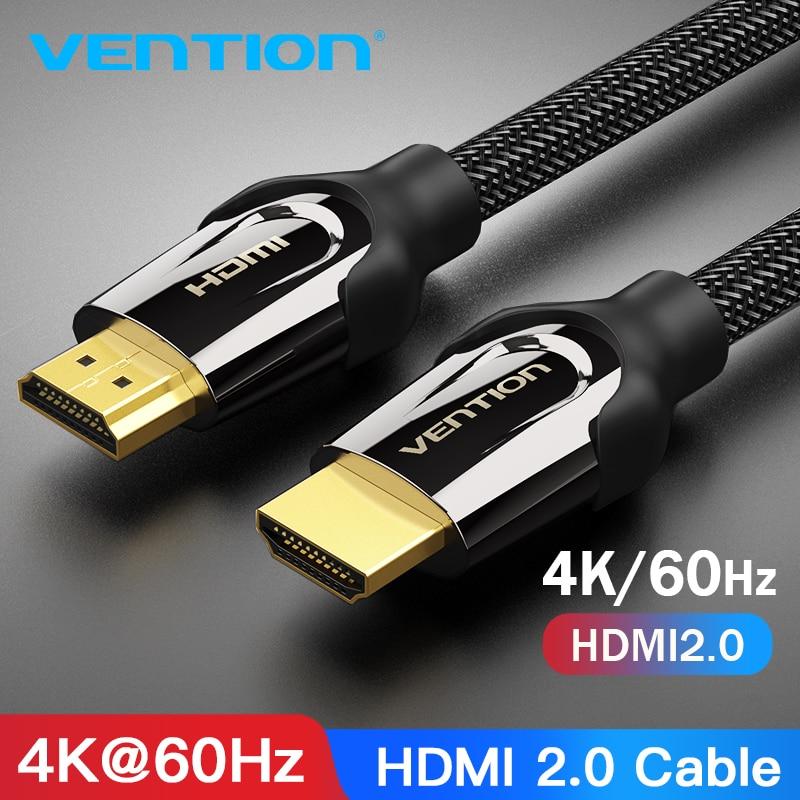 US $3.26 20% СКИДКА|HDMI кабель Vention, кабель HDMI HDMI, 4K HDMI 2.0 60FPS провод для разветвителя, ТВ, ЖК, ноутбука, PS3, проектора, компьютерный кабель|cable joint - AliExpress