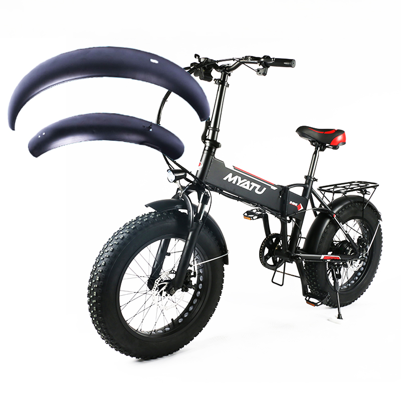 20 дюймов сноуборд Электрический велосипед крыло E-bike крыло 20x4,0 fat tire складной велосипед крыло Железный прочный грязезащитный костюм