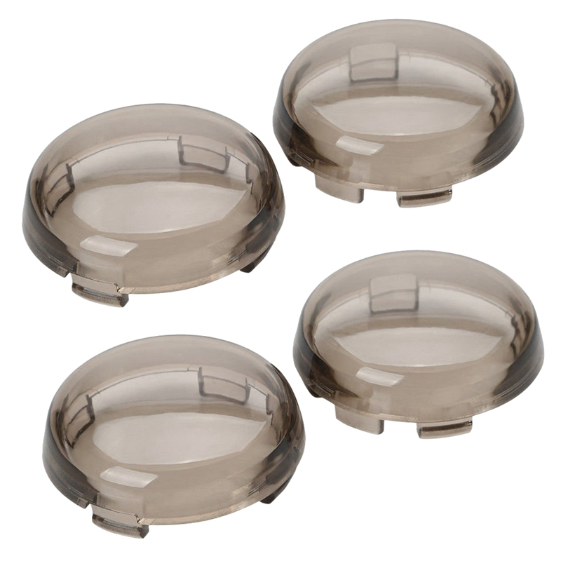 Smoked Turn Signal Lens Covers Lenses For Harley-Davidson Pack Of 4